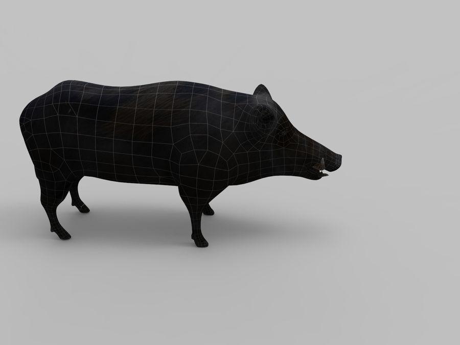 Dzik royalty-free 3d model - Preview no. 21