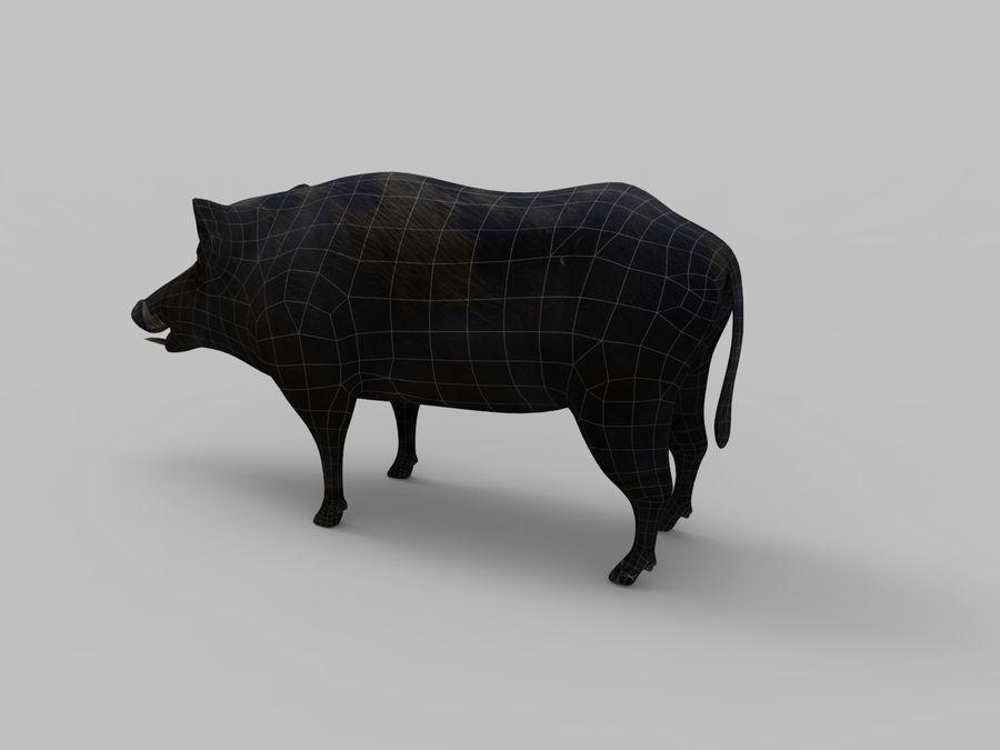 Dzik royalty-free 3d model - Preview no. 19