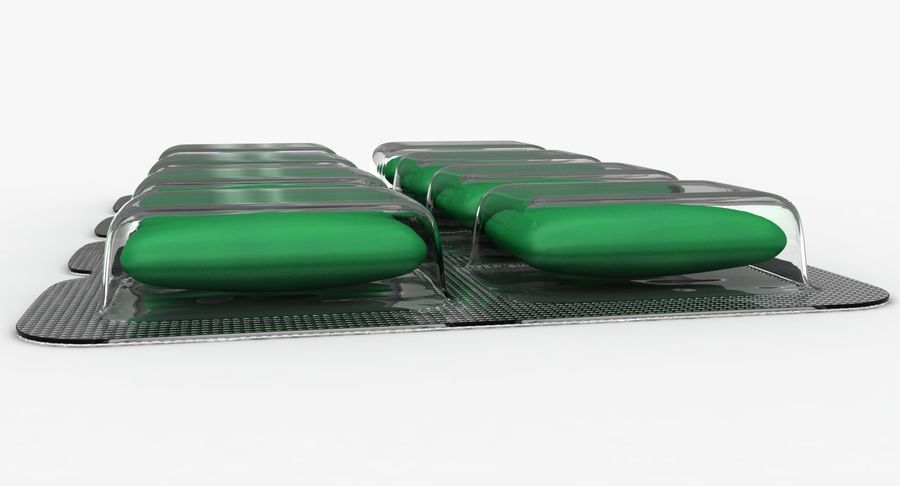 Chewing Gum (Green) royalty-free 3d model - Preview no. 11