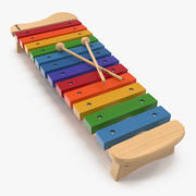 Xylophone Percussion Musical Toy Model 3D 3d model