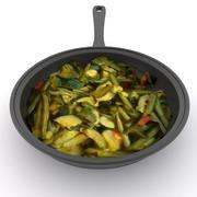 野菜鍋 3d model