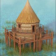 Cabane de marais 3d model