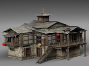 Gamla huset i Tibet 3d model