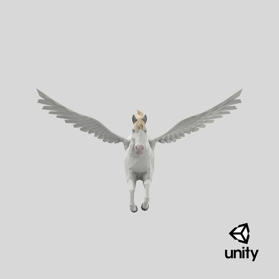 Pegasus Flying royalty-free 3d model - Preview no. 25