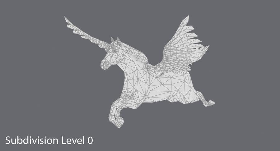 Pegasus Flying royalty-free 3d model - Preview no. 12