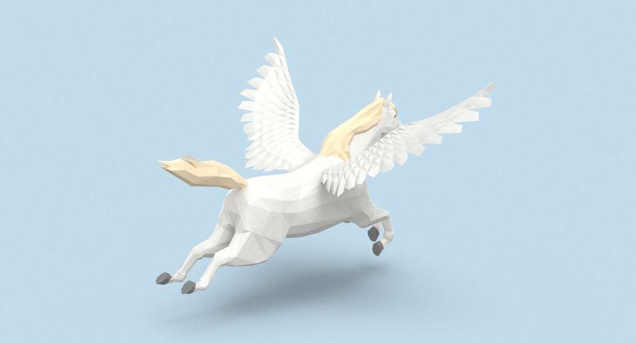 Pegasus Flying royalty-free 3d model - Preview no. 6