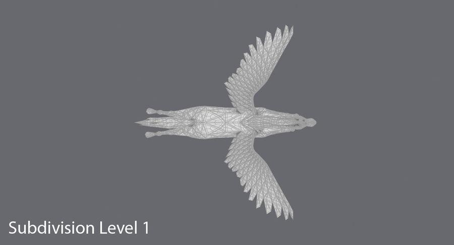 Pegasus Flying royalty-free 3d model - Preview no. 16