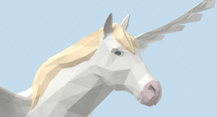 Pegasus Flying royalty-free 3d model - Preview no. 9