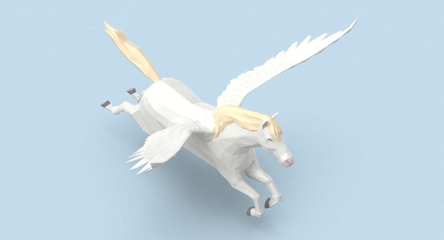 Pegasus Flying royalty-free 3d model - Preview no. 4