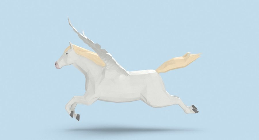Pegasus Flying royalty-free 3d model - Preview no. 7