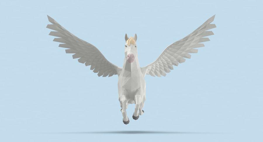 Pegasus Flying royalty-free 3d model - Preview no. 8