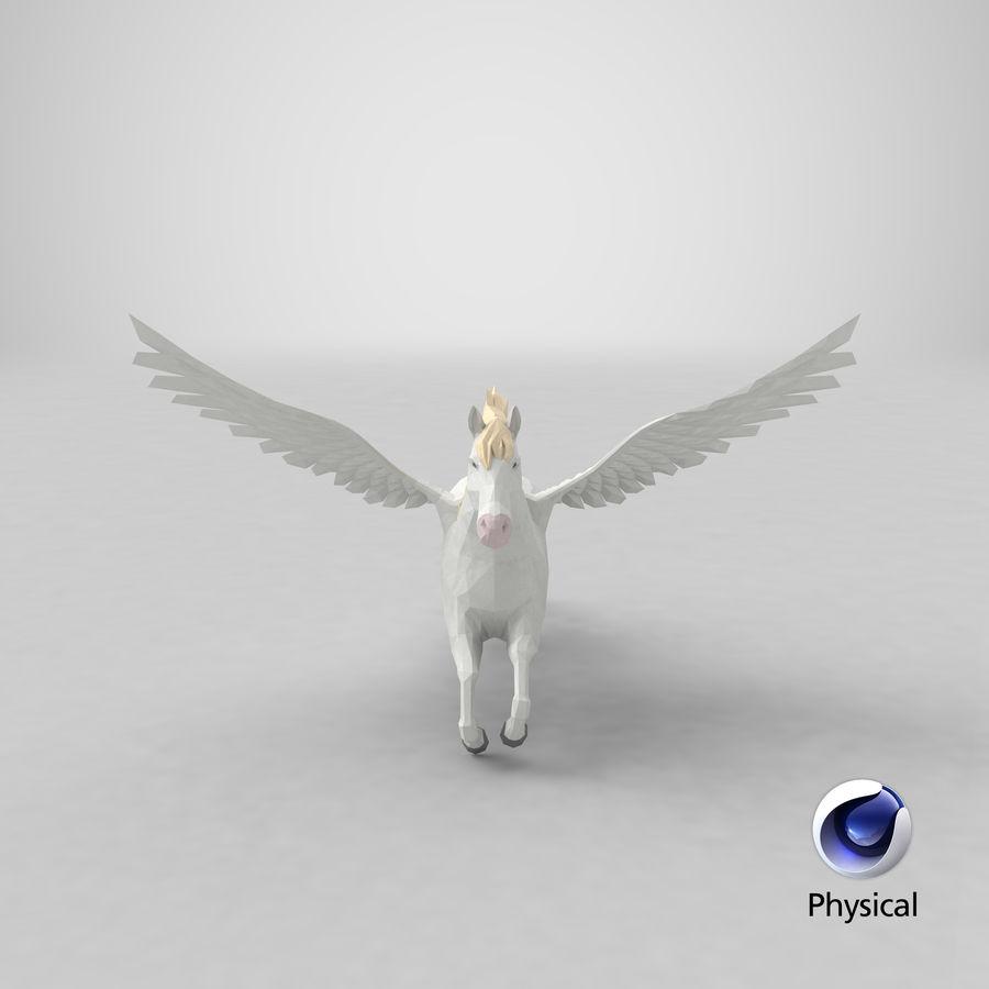 Pegasus Flying royalty-free 3d model - Preview no. 23