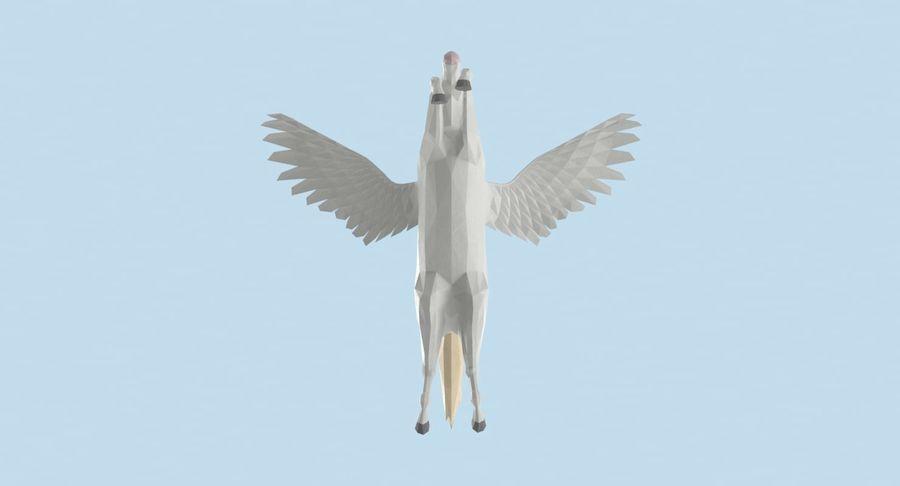 Pegasus Flying royalty-free 3d model - Preview no. 11
