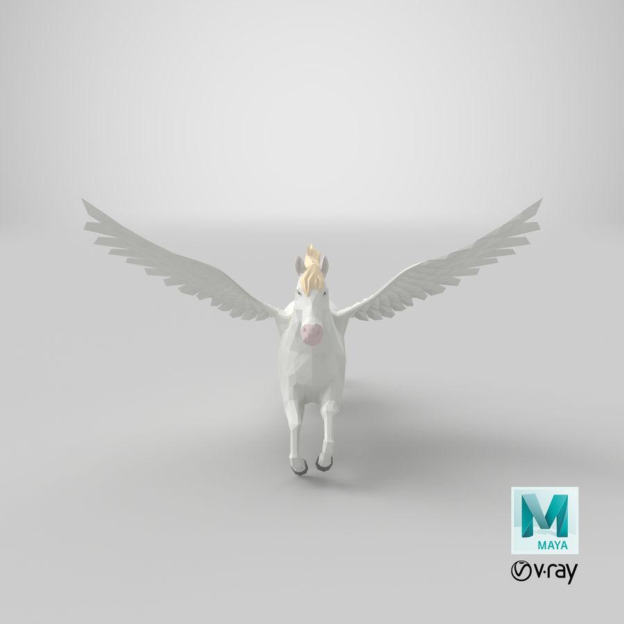 Pegasus Flying royalty-free 3d model - Preview no. 19