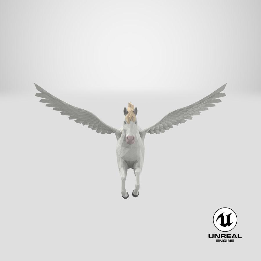 Pegasus Flying royalty-free 3d model - Preview no. 24