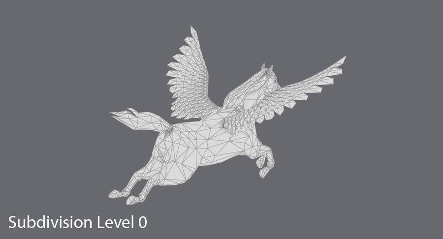 Pegasus Flying royalty-free 3d model - Preview no. 14