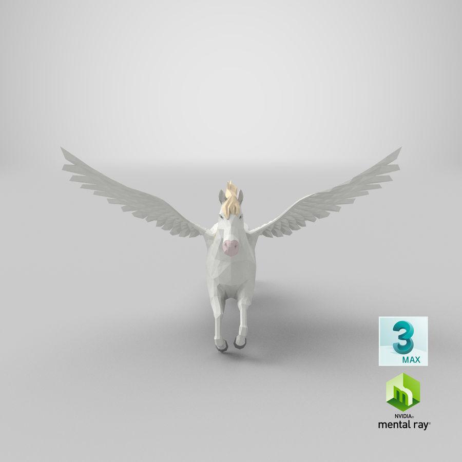 Pegasus Flying royalty-free 3d model - Preview no. 22