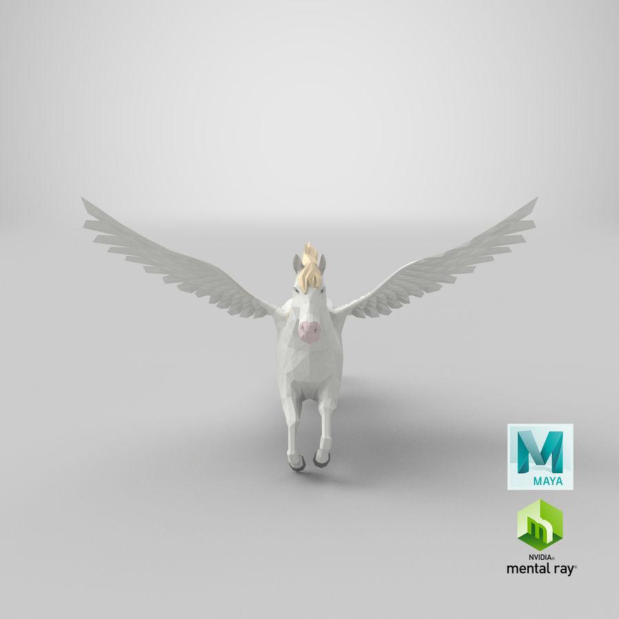 Pegasus Flying royalty-free 3d model - Preview no. 20
