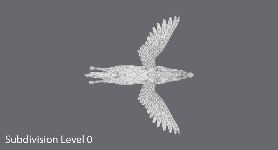 Pegasus Flying royalty-free 3d model - Preview no. 13