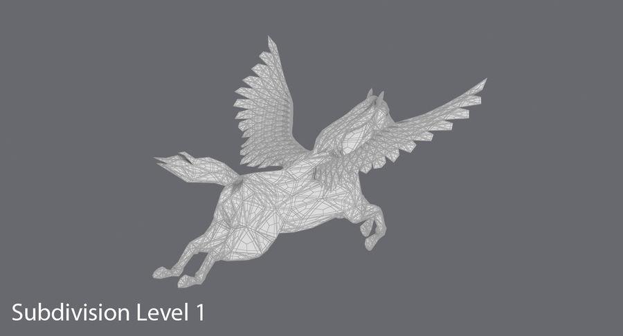 Pegasus Flying royalty-free 3d model - Preview no. 17