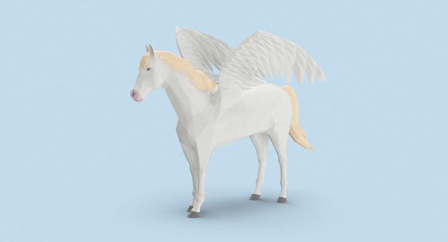 Pegasus stehend royalty-free 3d model - Preview no. 3