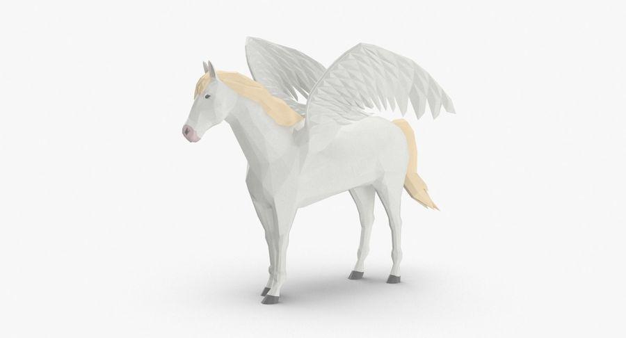 Pegasus stehend royalty-free 3d model - Preview no. 2