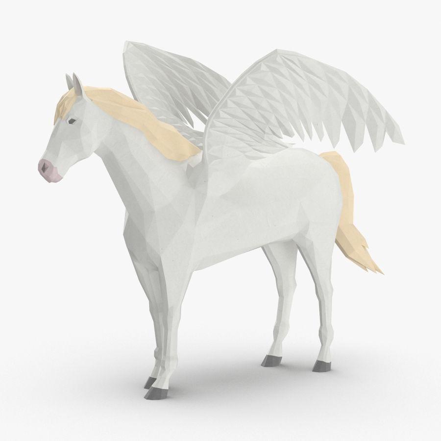 Pegasus stehend royalty-free 3d model - Preview no. 1