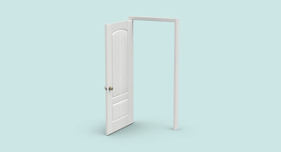 Exterior Door 3 Open royalty-free 3d model - Preview no. 3