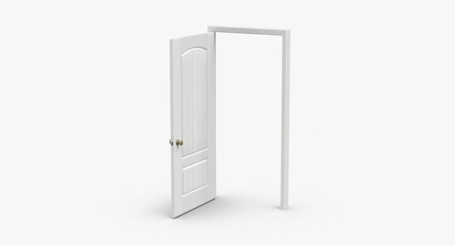 Exterior Door 3 Open royalty-free 3d model - Preview no. 2