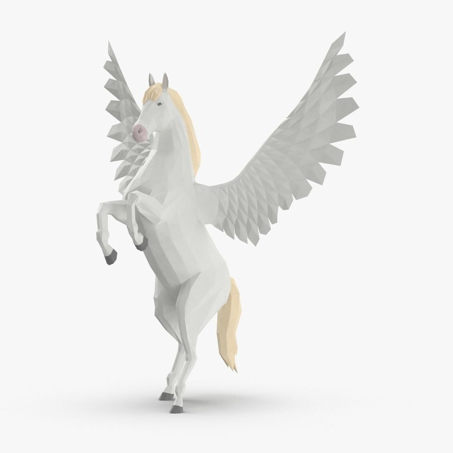 Pegasus uppfödning royalty-free 3d model - Preview no. 1