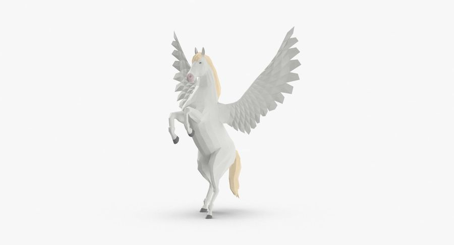 Pegasus uppfödning royalty-free 3d model - Preview no. 2