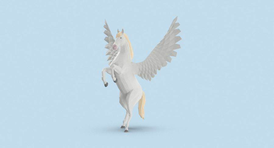Pegasus uppfödning royalty-free 3d model - Preview no. 3