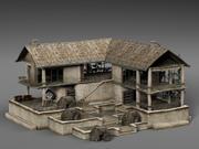 废弃的房子 3d model