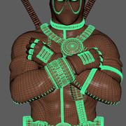 Deadpool, Marvel. Pronto para impressão. 3d model