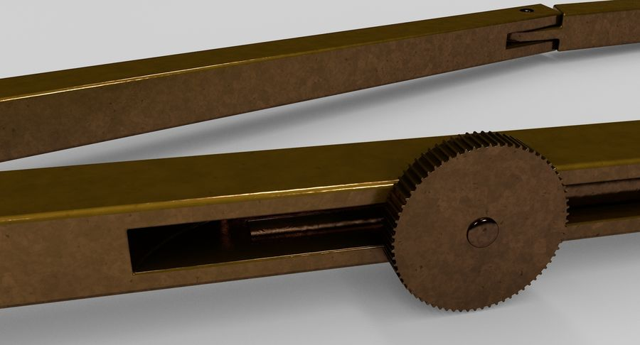Opstellen kompas royalty-free 3d model - Preview no. 8