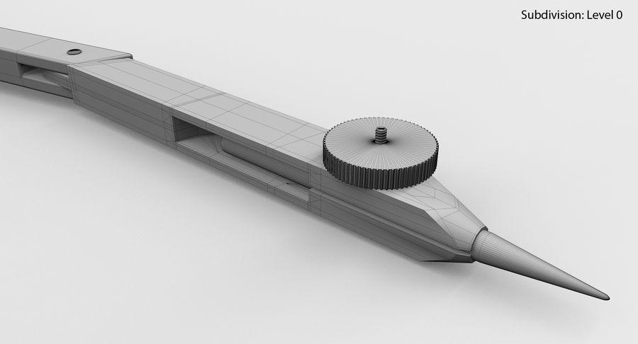 Compasso de desenho royalty-free 3d model - Preview no. 15