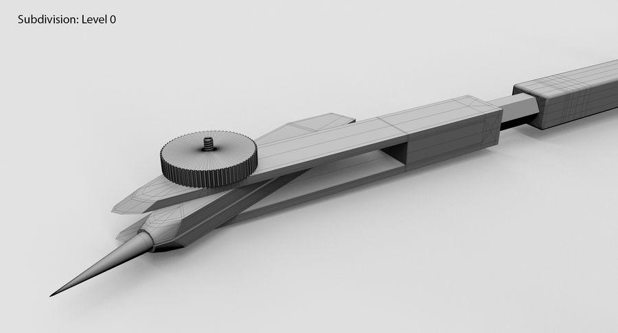 Opstellen kompas royalty-free 3d model - Preview no. 13