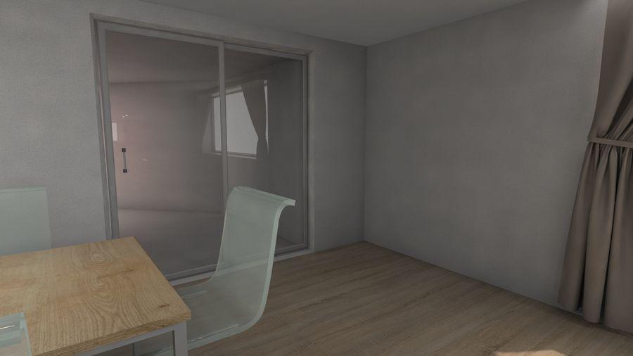 Modern kitchen design royalty-free 3d model - Preview no. 6