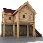 Çiftlik kulübe 3d model