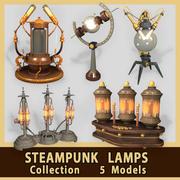 Lâmpadas Steampunk 3d model