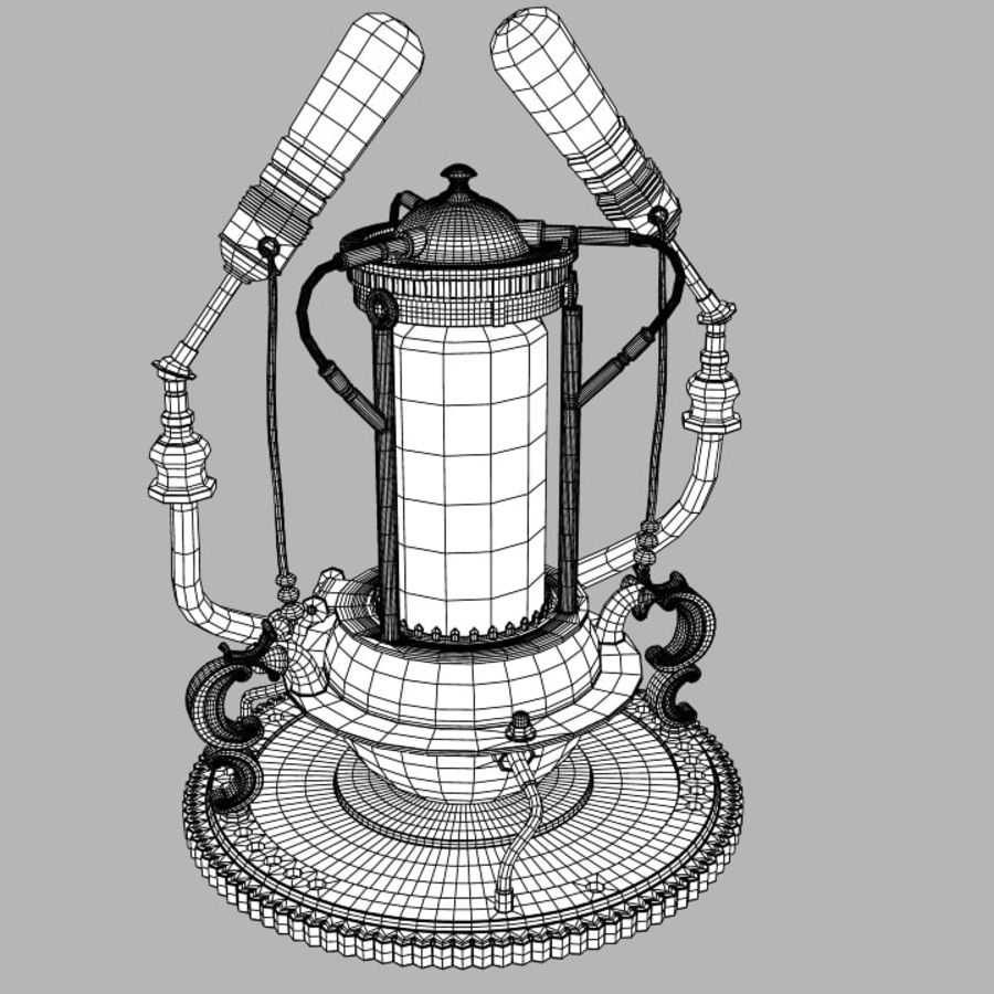 Lampes Steampunk royalty-free 3d model - Preview no. 7
