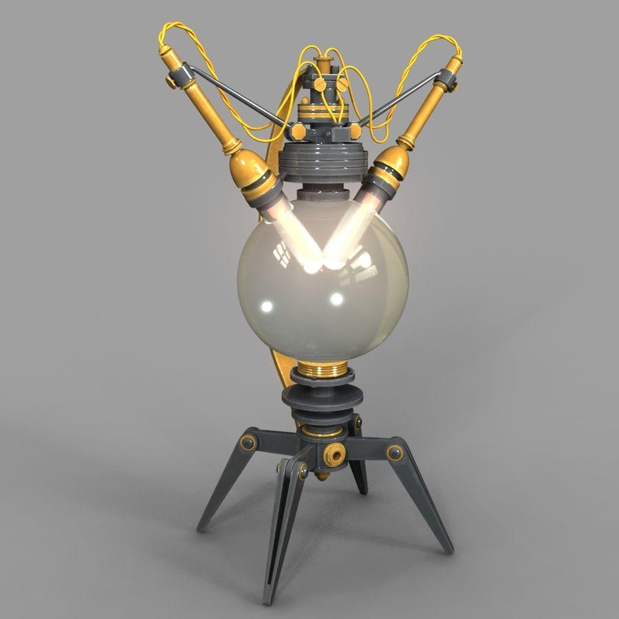 Lâmpadas Steampunk royalty-free 3d model - Preview no. 3