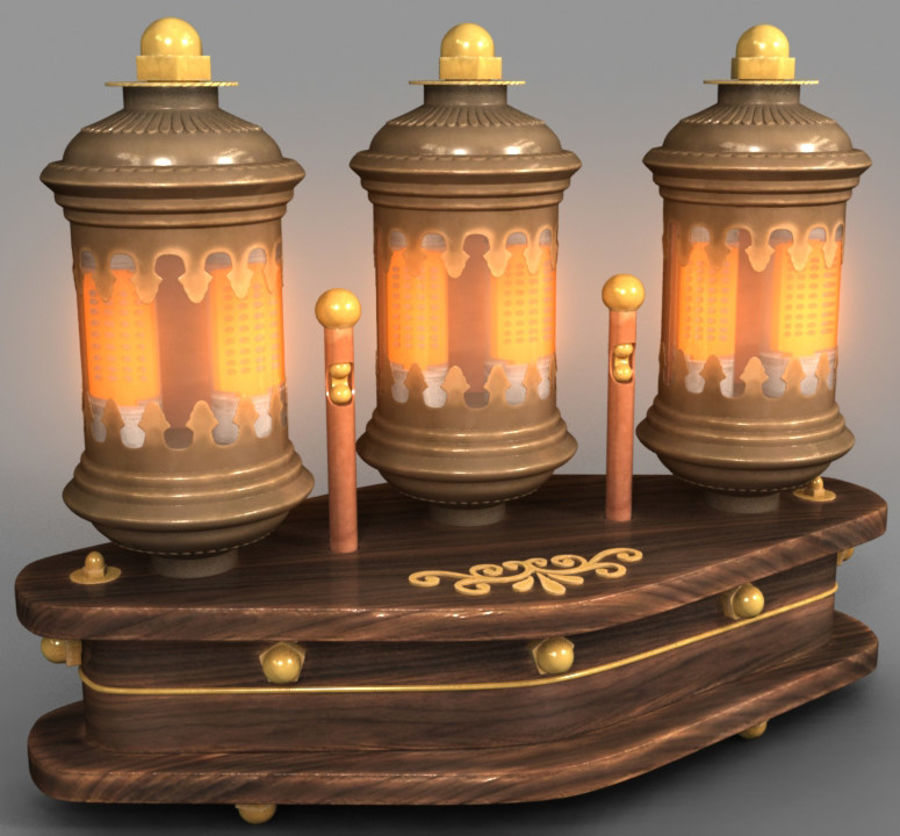 Lampes Steampunk royalty-free 3d model - Preview no. 6
