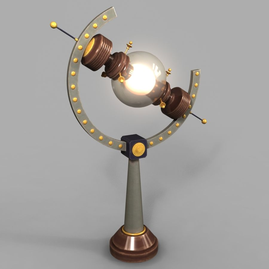 Lampes Steampunk royalty-free 3d model - Preview no. 4