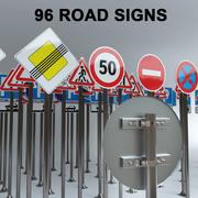 96 Yol İşaretleri 3d model