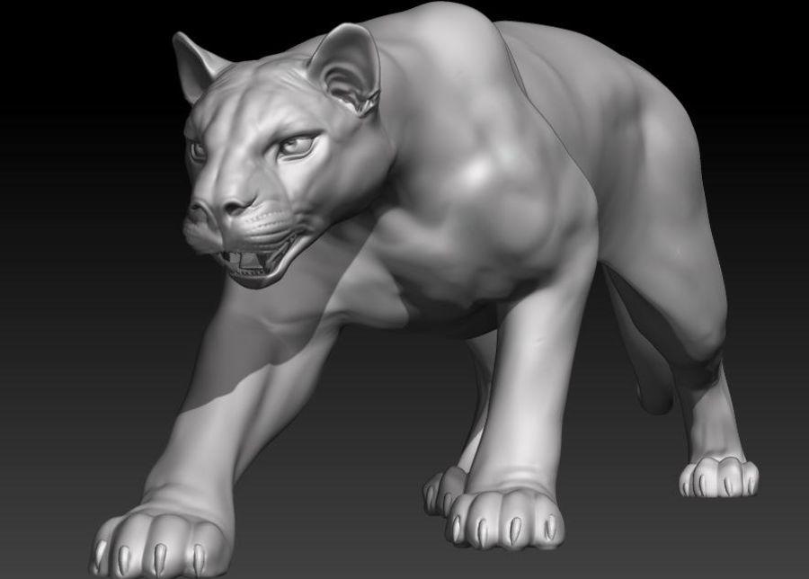 Puma royalty-free 3d model - Preview no. 3