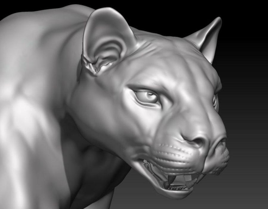 Puma royalty-free 3d model - Preview no. 4