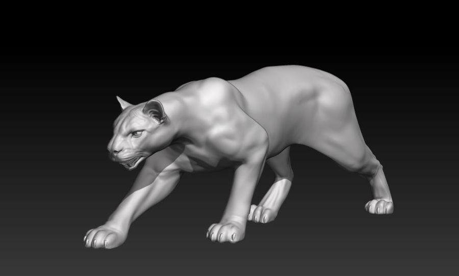 Puma royalty-free 3d model - Preview no. 7