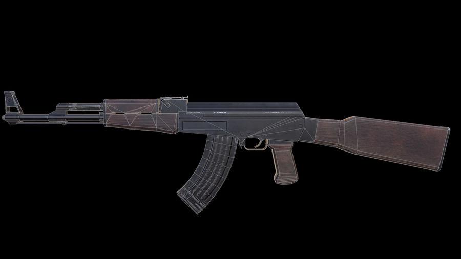 ak47 royalty-free 3d model - Preview no. 11