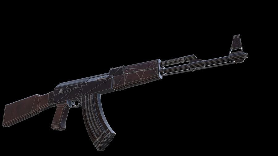 ak47 royalty-free 3d model - Preview no. 14